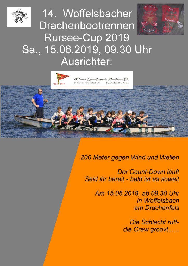 14. Woffelsbacher Drachenbootrennen 2019 - der TV Kall ist dabei