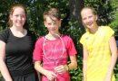 Trotz Hitzetemperaturen schlagen sich die Kaller Badminton-Spieler gut im Turnier
